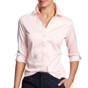 Banana Republic non-iron fitted shirt in pink